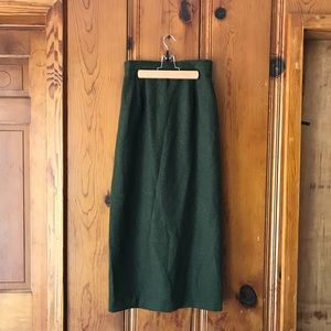 Dresses & Skirts - Fitted Green Maxi Skirt